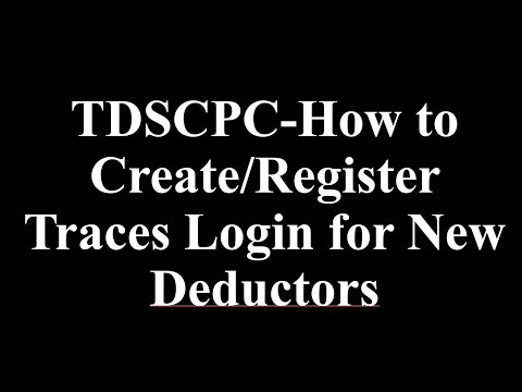 TDSCPC Login – TDS TRACES Login & register